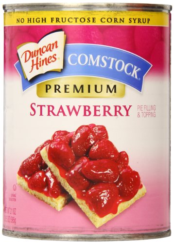 (Comstock Premium Pie Filling & Topping, Strawberry, 21 Ounce (Pack of 8))