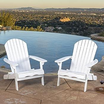 Amazoncom Classic White Painted Wood Adirondack Chair Chaise