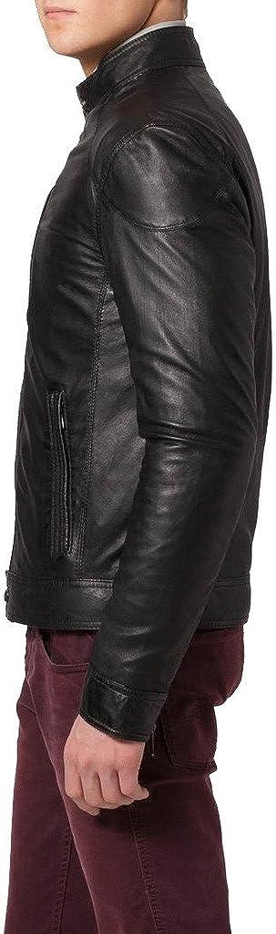 Genuine Sheep Leather Mens Slim Fit Party Jacket LT382