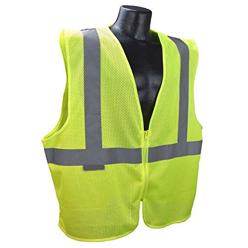 Saferite Vest SR-EGM-R2 Color Green Economy Type R Class 2 - Custom Clothing Sr