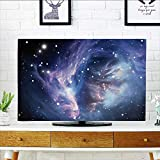 L-QN Front Flip Top Mysterious Nebula Gas Cloud in Deep Ouuter Space with Star Cluster Universe Solar Front Flip Top W32 x H51 INCH/TV 55''