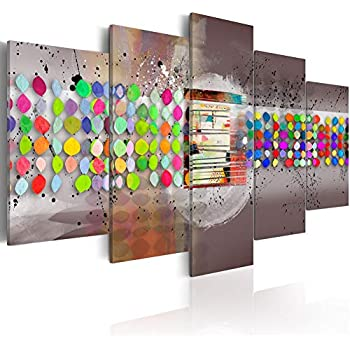amazoncom abstract spotted canvas painting color magic