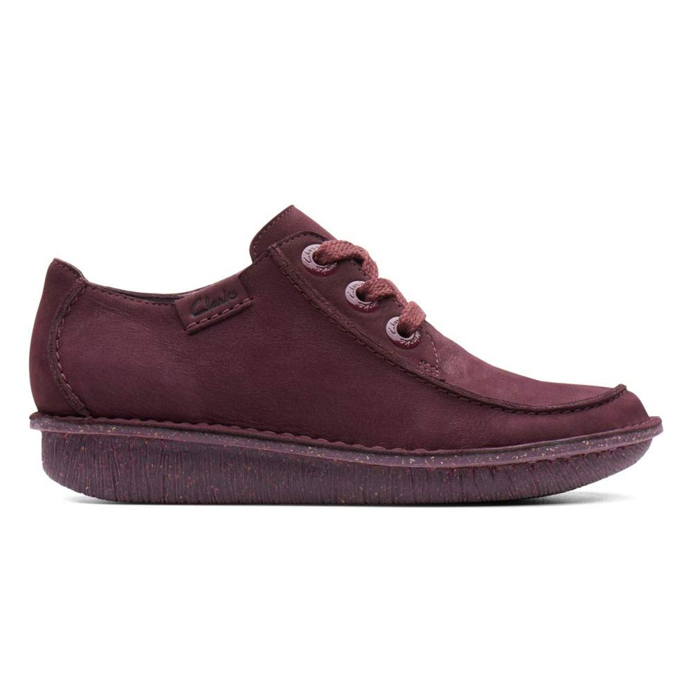 Aubergine Nubuck Clarks Womens Funny Dream Oxford