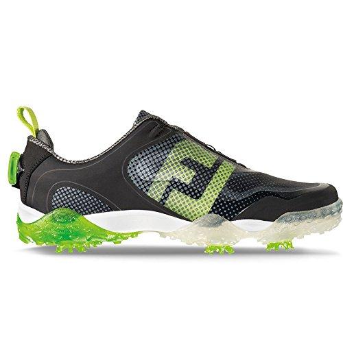 FootJoy Men's BOA-Previous Season Style  Black / Lime / Light Grey Golf Shoe - 9.5 D(M) US