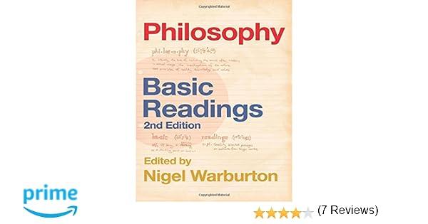 Amazon philosophy basic readings 9780415337984 nigel amazon philosophy basic readings 9780415337984 nigel warburton books fandeluxe Image collections