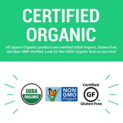 Square Organics Organic Chocolate Coated Protein Bar, Mint (12 Count) 1.7 Oz. , Gluten-Free Soy-Free Dairy-free Vegan High Protein Snack by Square Organics (Image #3)