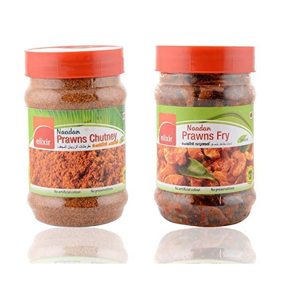 Elixir 100g Naadan Prawns Fry and 150g Dry Prawns Chutney