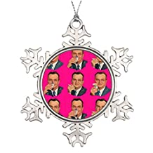 Personalised Christmas Tree Decoration 1940S Advertising Blank Customized Christmas Snowflake Ornaments
