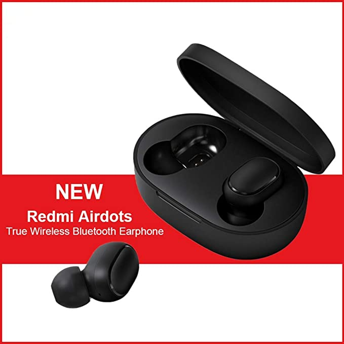 Pour Xiaomi Redmi Casque Bluetooth, Redmi TWS Airdots Écouteurs Bluetooth V5.0, appels Binauraux, casque avec bruit actif d'annulation DSP, écouteurs