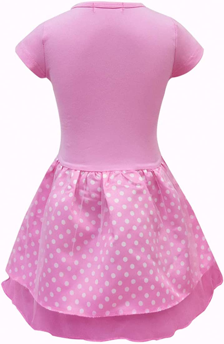 BT Willing Surprise Dolls Girls Dress Cartoon Short Sleeve Skirt Lovely Princess Dress for Party Parade Birthday Gifts 3~10 Years