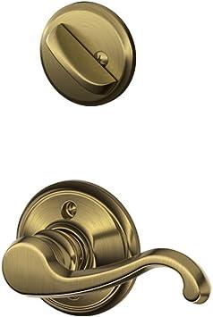 Aged Bronze Schlage F59 CLT 716 LH 12-326 10-269 Callington Handleset Interior Lever Interior Half Only