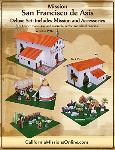 Mission San Francisco de Asis Large Paper Craft Model Deluxe Set (Mission San Francisco De Asis)