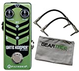 Pigtronix GKM Gatekeeper Micro Noise Gate Pedal Bundle w/ 2 Cables and Cloth