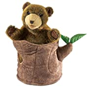 Folkmanis Bear in Tree Stump Hand Puppet
