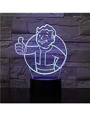 Ledlamp voor Vault Boy Fallout, kleurverandering, USB, nachtlampje