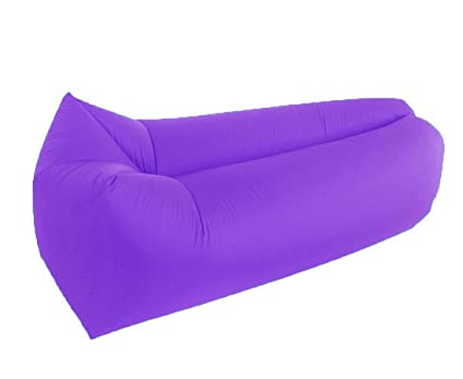 Tumbona saco de dormir, resistente al agua playa tumbona hinchable Air sofá sofá cama piscina flotador inflable para Camping ocio playa piscinas ...