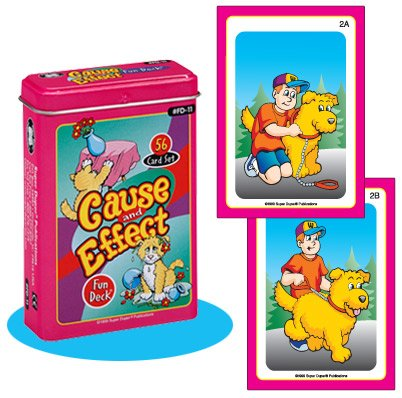 Cause and Effect Fun Deck Cards - Super Duper Educational Learning Toy for Kids (Effect Super)