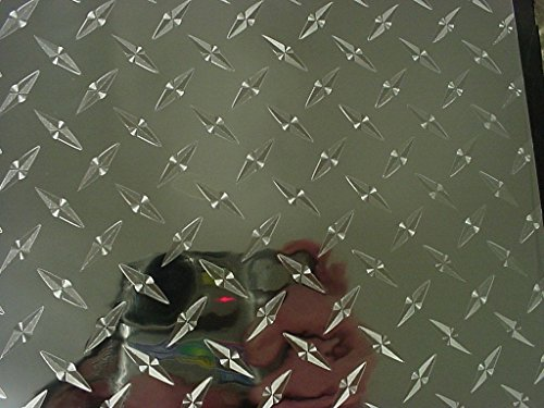 (Diamond Plate Vinyl Tape, with Self-Adhesive (Silver, 6 inch x 25 ft))