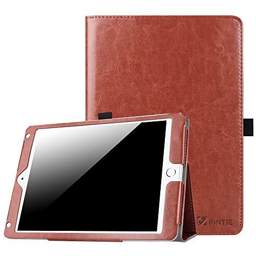 Fintie iPad 9.7 2018/2017, iPad Air 2, iPad Air Case - [Corner Protection] Premium Vegan Leather Folio Stand Cover, Auto Wake/Sleep for Apple iPad 6th/5th Gen, iPad Air 1/2, Saddle Brown