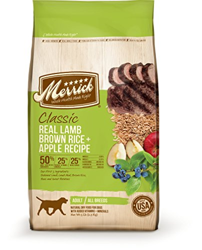 Merrick Classic Real Lamb, Brown Rice & Apple - 30 lbs