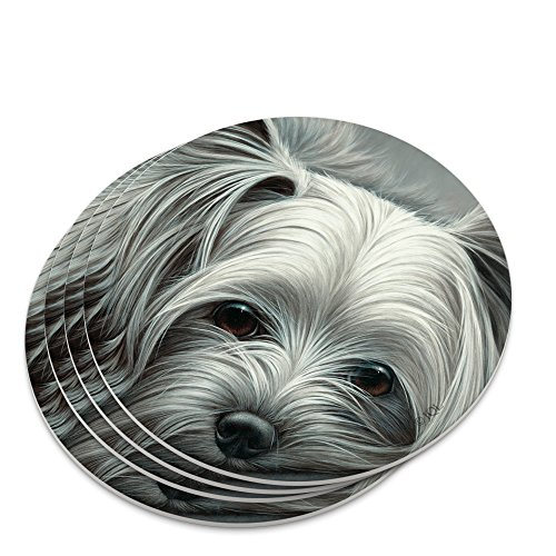 Yorkshire Terrier Yorkie Tired Sleepy Dog Novelty Coaster - Terrier Coaster Yorkshire