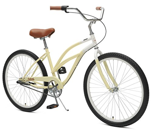 Critical Cycles 2345 Women's 3-Speed Chatham-3  Beach Cruiser Bike, 26-Inch, Sand