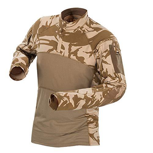 (Outdoor Woodland Hunting Shooting US Battle Dress Uniform Tactical BDU Combat Clothing Camouflage Shirt - UK Desert - XXXL )