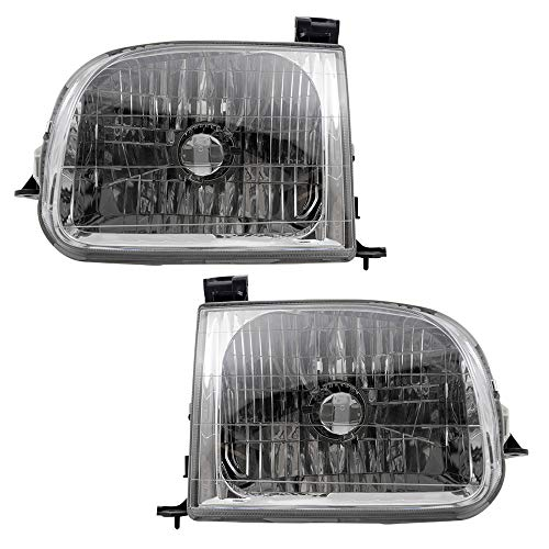 Truck Toyota Headlights - Driver and Passenger Headlights Headlamps Replacement for 2000-2004 Toyota Tundra Regular Access Cab Pickup Truck 811500C010 811100C010