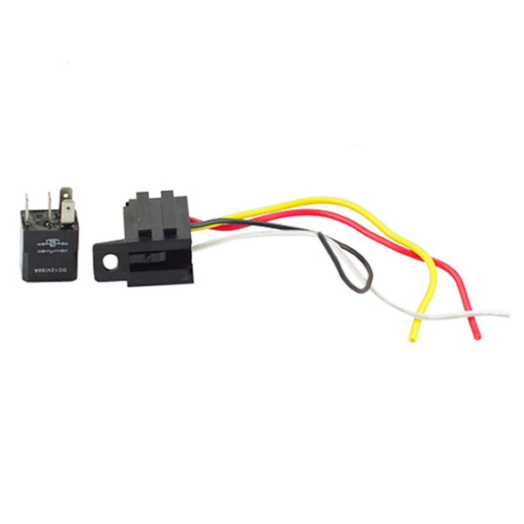 amazon com 2pack car auto 30a 12v spst relay & socket kit for spst wiring- diagram amazon com 2pack car auto 30a 12v spst relay & socket kit for electric fan fuel pump horn 4pin 4 wire relays automotive