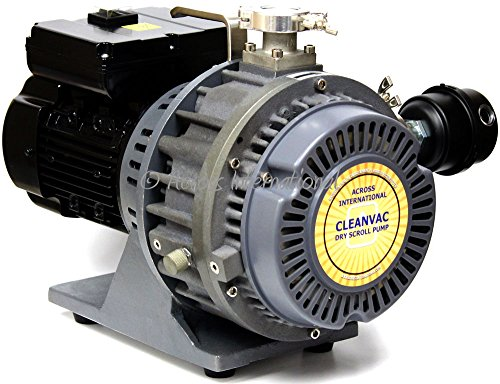 - Ai CleanVac 5.1 cfm 60 Micron Compact Oil Free Dry Scroll Pump with Fittings