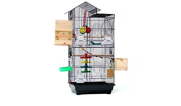 Meetshine Grande Villa Jaula de Pájaros Loro para Alimentador ...