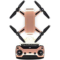 SopiGuard Chrome Rose Gold Precision Edge-to-Edge Coverage Vinyl Sticker Skin Controller 3 x Battery Wraps for DJI Spark