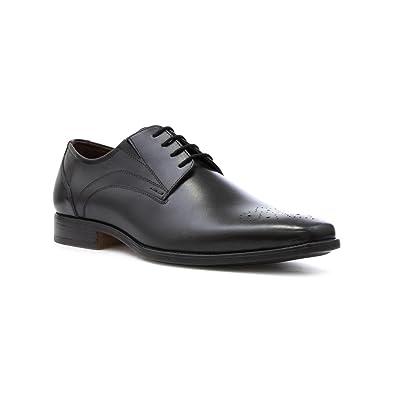 Lotus - Zapato de cuero, acordonado, con tacón bajo, negro, para hombre Lotus - Talla 8 UK / 42 EU - Negro