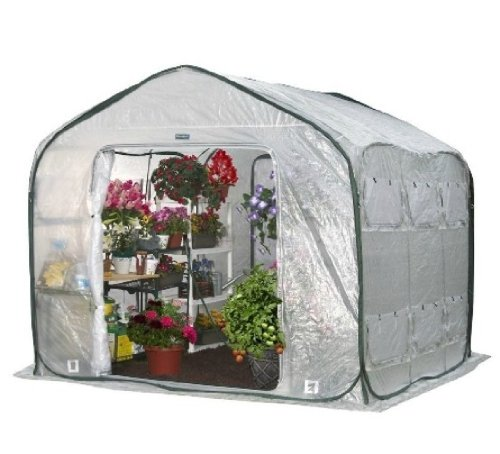 Flower House FHFH700 FarmHouse Walk-In Greenhouse (Flowerhouse Portable Greenhouse)