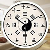 Znzbzt Simple Creative Mute Wall Clock Traditional Chinese Foot spa and Massage parlors in The Hospital Ward 医 feng Shui Decorative Wall Clock Mute Watches, 16 inch, Whit