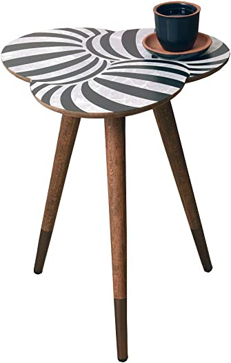 VHD Geometric Design Round Side Table End Table Accent Coffee Table Sofa Table Small Tables