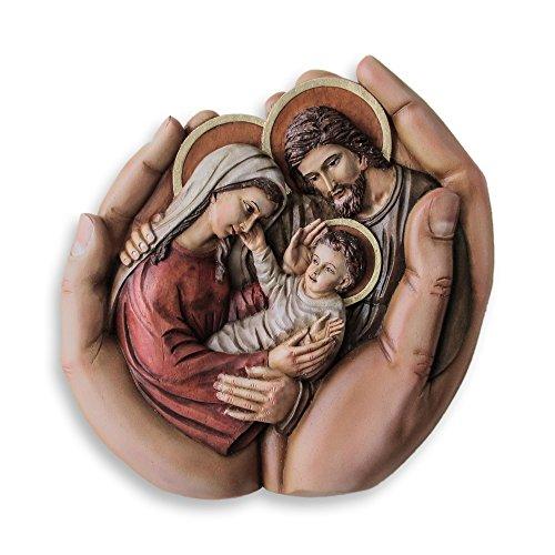 NOVICA 229824 God's Hands' Cedar Relief Panel