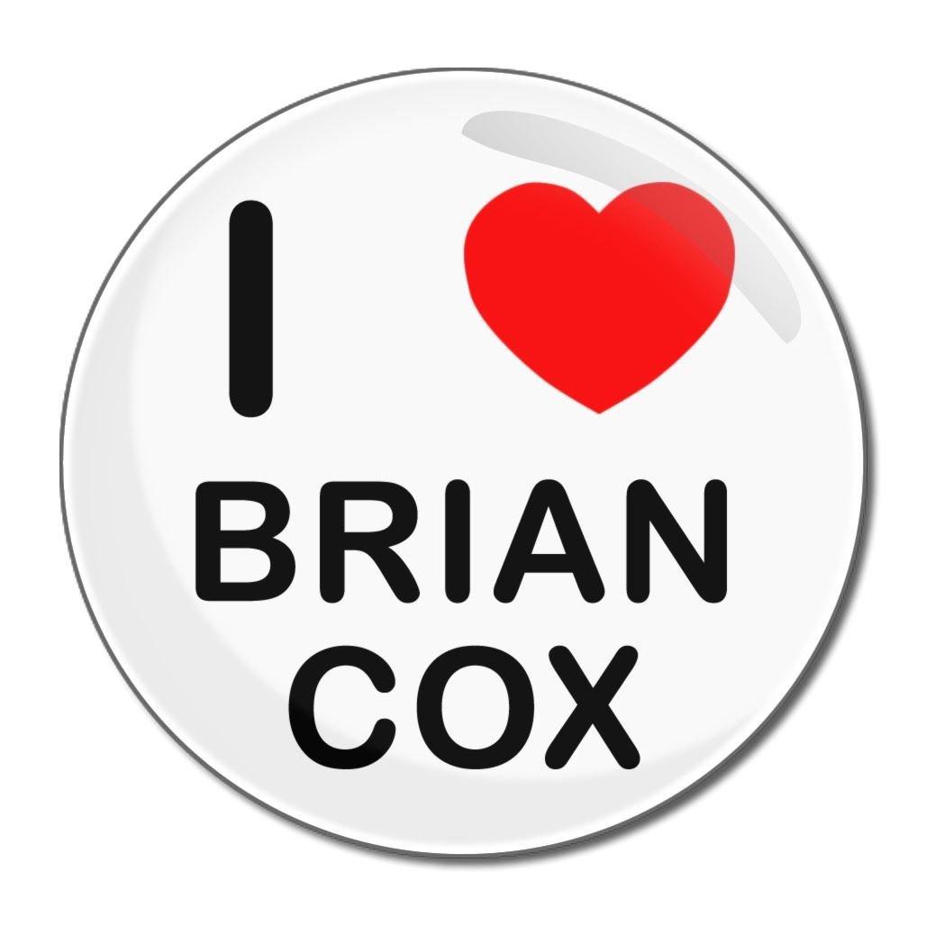 I Love Brian Cox - 55mm Round Compact Mirror BadgeBeast.co.uk 55mir-briancox