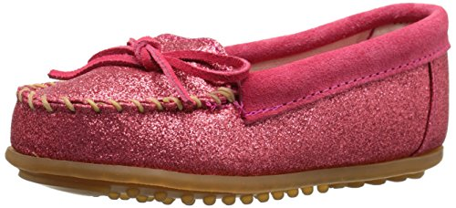 Minnetonka Glitter Moc,Hot Pink,4 M US Big - Kids Minnetonka