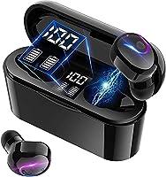 【最新Bluetooth5.2技術】 Bluetooth イヤホン ワイヤレスイヤホン 両耳 左右分離型 高音質 最大40時間音楽再生 瞬時接続 マイク内蔵 IPX5防水 Siri対応 ハンズフリー 通話 自動ペアリング ブルートゥース...
