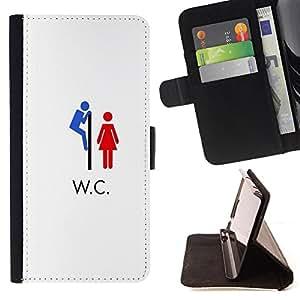 Jordan Colourful Shop -WC Kiddying Funny -- Leather Case Absorciš®n cubierta de la caja de alto impacto FOR Samsung Galaxy Note 4 SM-N910 N910 IV ---