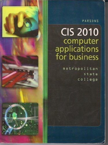 Download CIS 2010: Computer Applications for Business pdf