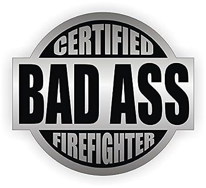 "Helmet Decal Label Lunch //Tool Box 2/"" Bad Ass Firefighter Hard Hat Sticker"