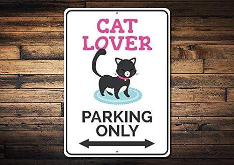 qidushop Señal de Aparcamiento para Amantes de los Gatos, decoración de Gatos, Regalo para