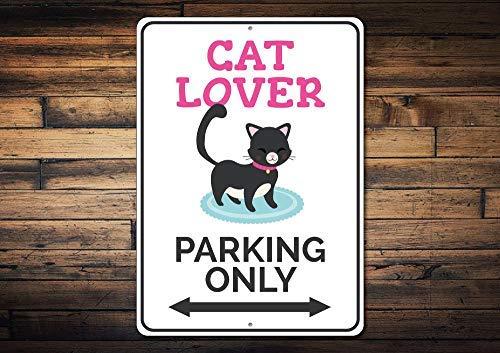 qidushop Señal de Aparcamiento para Amantes de los Gatos ...