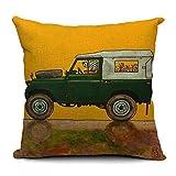 "Driving Car Pet Dog Pillowcase Cotton Linen Decorative Home Throw Pillow Cushion Case 18"" / 45x45cm Type 14"