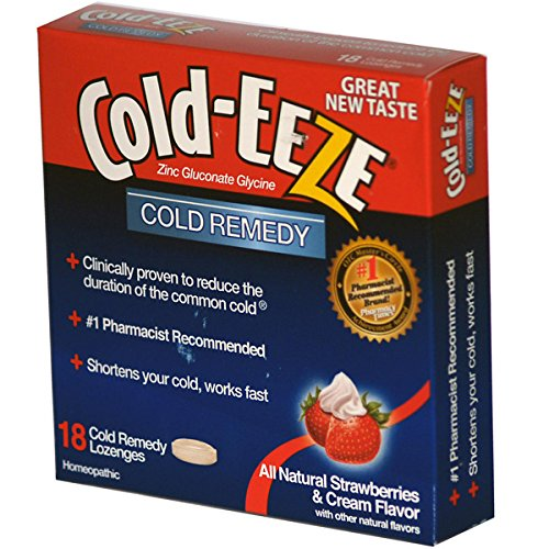 Cold-Eeze Zinc Gluconate Glycine Cold Remedy All Natural Strawberries & Cream