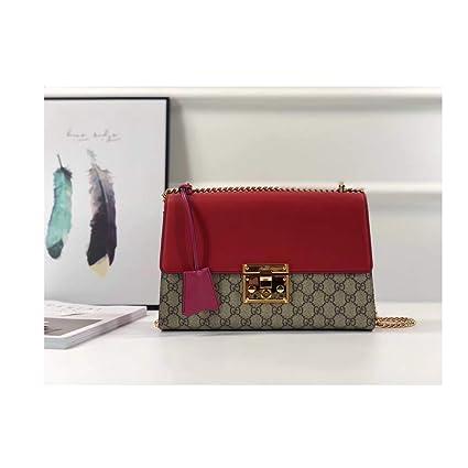 b6ba6d1263b2 podlock Handbag for Womens Handbag Designer Fashion Single Shoulder  Messager Bags- Khaki red