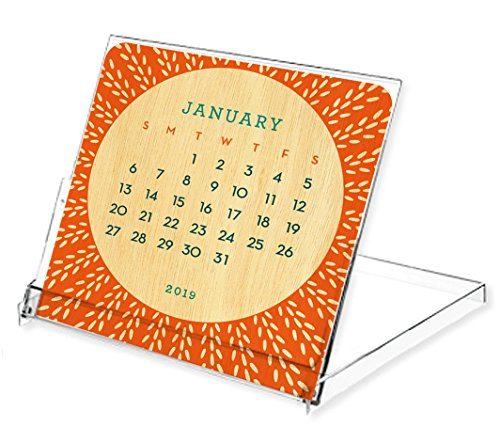 Night Owl Paper Goods Dots 2019 Wood Mini Calendar, Birch for $<!--$15.00-->