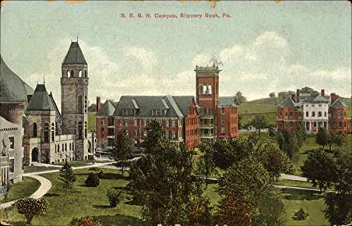 S. R. S. N. Campus Slippery Rock, Pennsylvania Original Vintage Postcard by CardCow Vintage Postcards